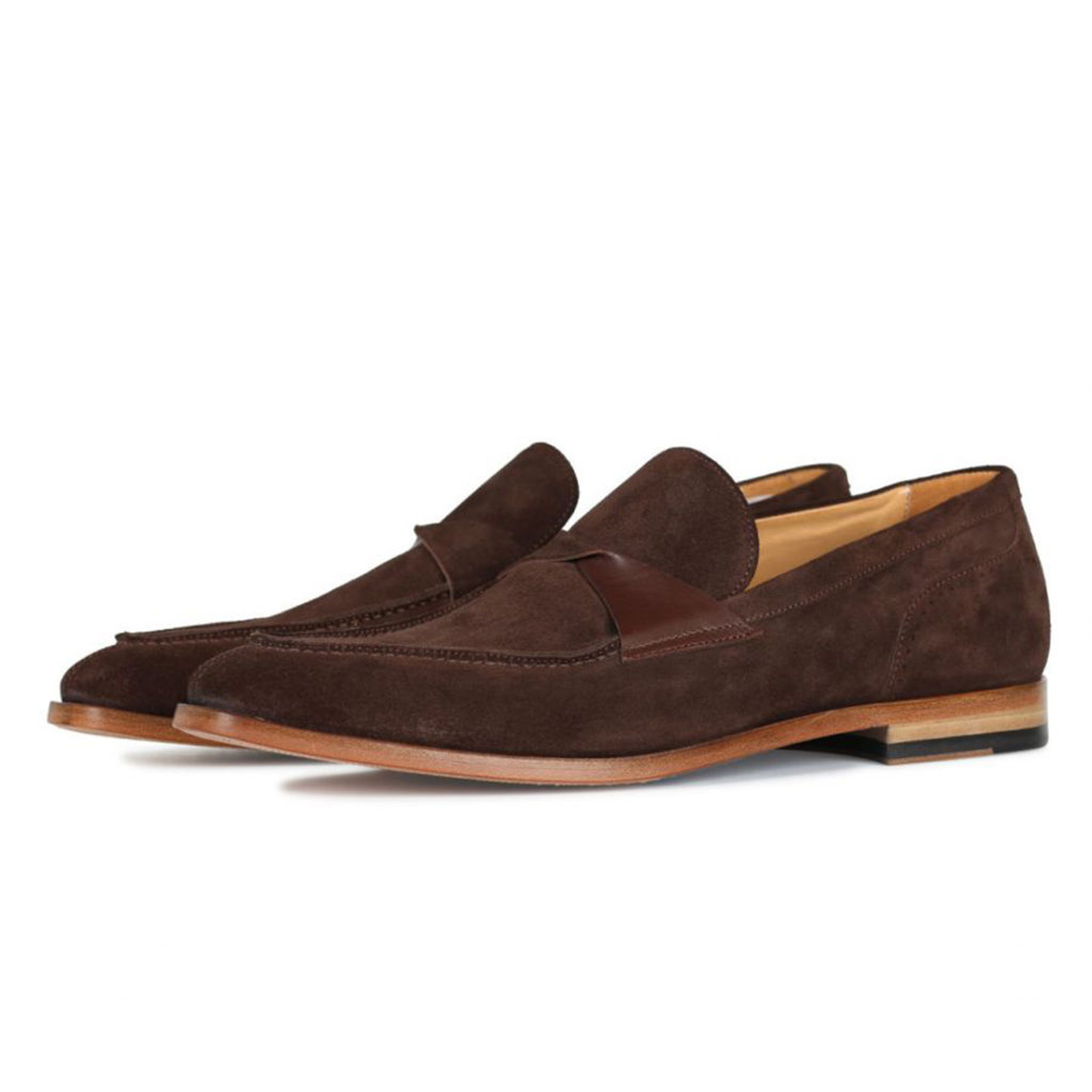 Oliver Sweeney TORBOLE BROWN SUEDE BUTTERFLY STRAP LOAFER2