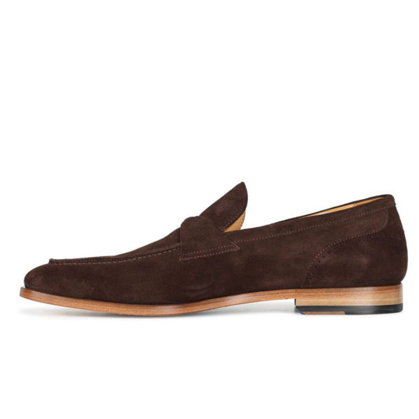 Oliver Sweeney TORBOLE BROWN SUEDE BUTTERFLY STRAP LOAFER4