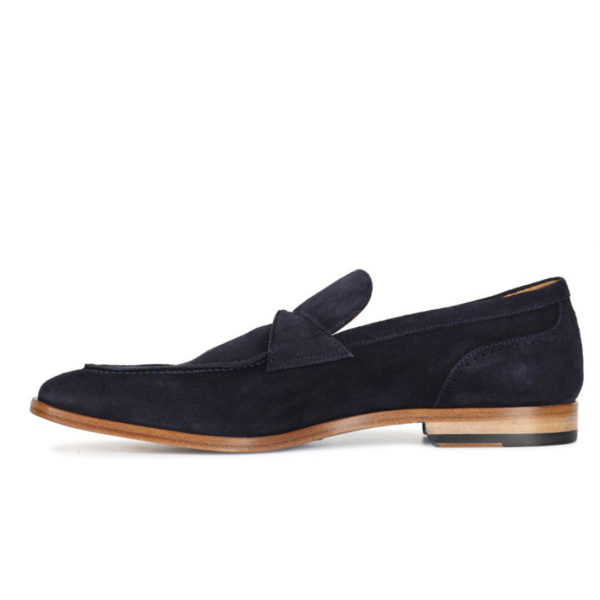 Oliver Sweeney Torbole Navy SUEDE BUTTERFLY STRAP LOAFER