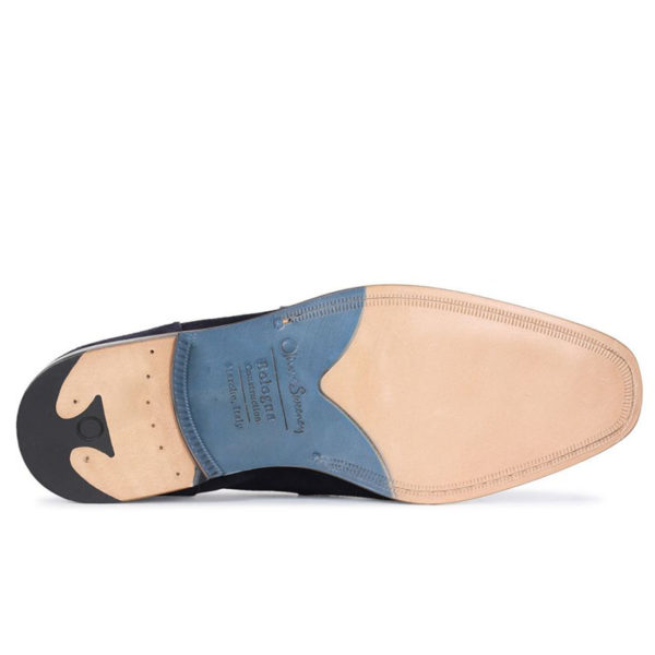Oliver Sweeney Torbole Navy SUEDE BUTTERFLY STRAP LOAFER2