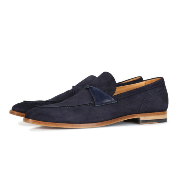 Oliver Sweeney Torbole Navy SUEDE BUTTERFLY STRAP LOAFER3
