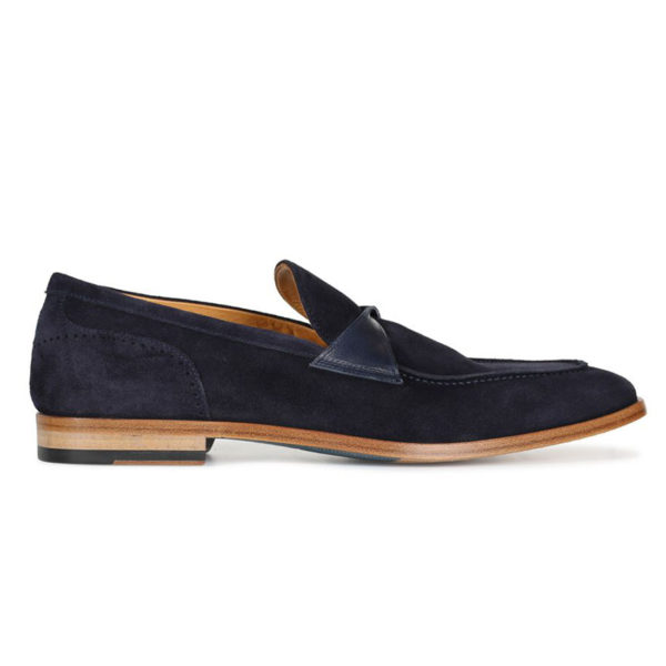 Oliver Sweeney Torbole Navy SUEDE BUTTERFLY STRAP LOAFER4