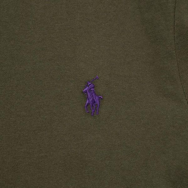 Polo RALPH LAUREN green slim fit t shirt detail