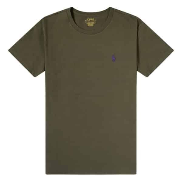 Polo RALPH LAUREN green slim fit t shirt front