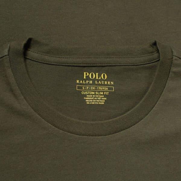 Polo RALPH LAUREN green slim fit t shirt front label