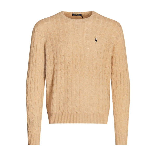 Polo Ralph Lauren Brown Wool and Cashmere cable knit jumper 1
