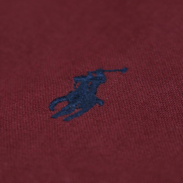Polo Ralph Lauren Burgundy button down shirt logo