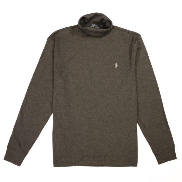 Polo Ralph Lauren Grey cotton turtleneck front