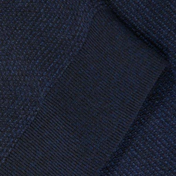 Polo Ralph Lauren Textured half zip navy knit front cuff