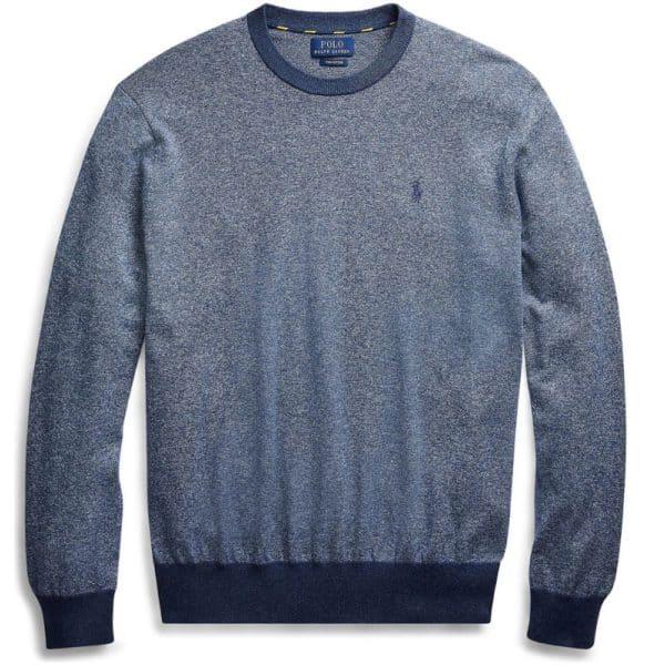 Ralph Lauren textured blue sweatshirt