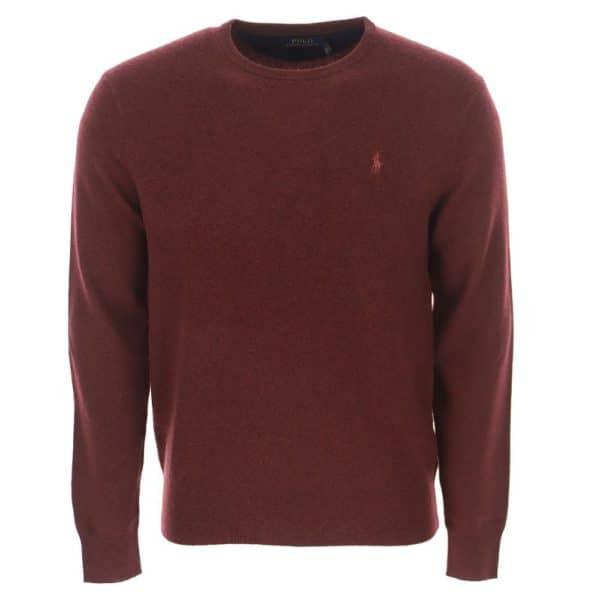 burgundy ralph lauren merino wool front
