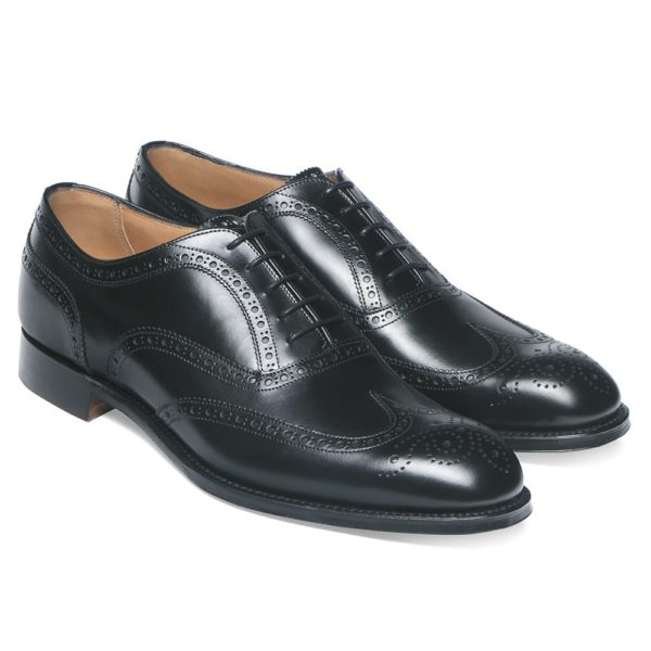 cheaney arthur iii oxford brogue in black calf leather p8 1110 image