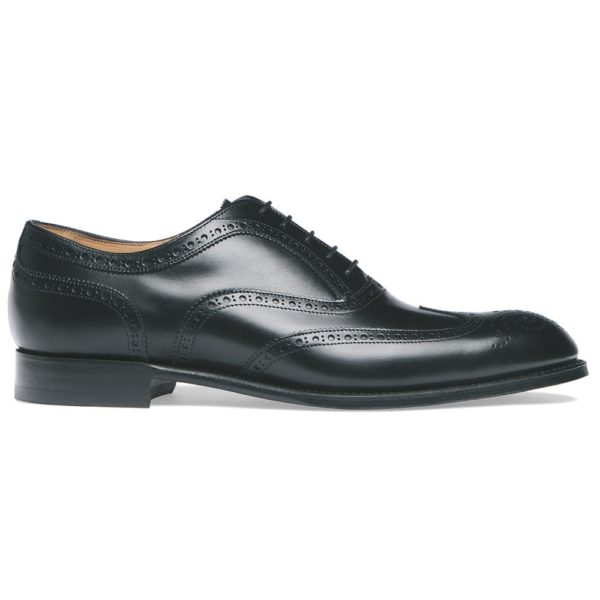 cheaney arthur iii oxford brogue in black calf leather p8 1111 image 1