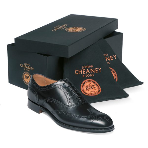 cheaney arthur iii oxford brogue in black calf leather p8 1113 image