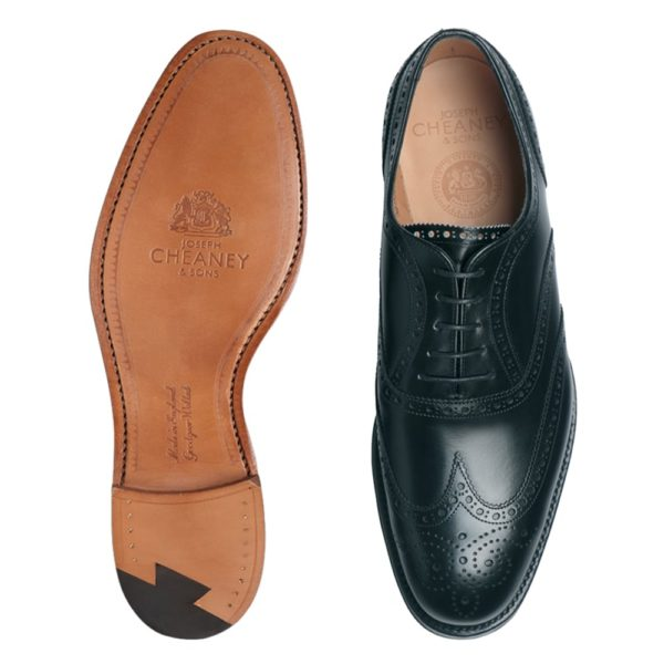 cheaney arthur iii oxford brogue in black calf leather p8 3805 image
