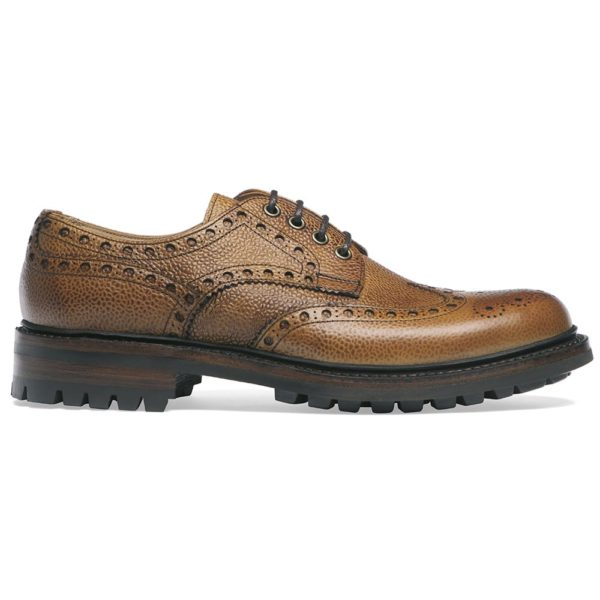 cheaney avon c wingcap derby brogue in almond grain leather p70 1422 image