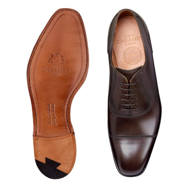 cheaney brackley oxford in burnished mocha calf leather p497 6300 image