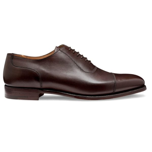 cheaney brackley oxford in burnished mocha calf leather p497 6302 image