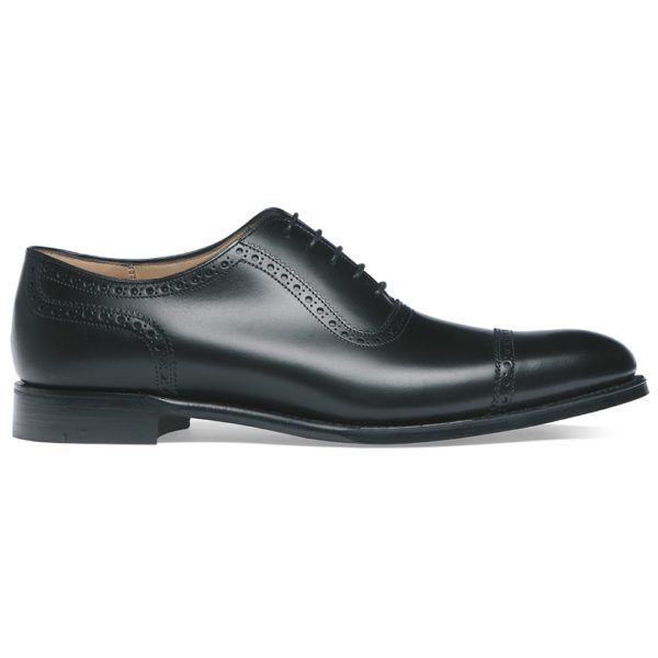 cheaney fenchurch oxford in black calf leather leather sole p32 1267 image