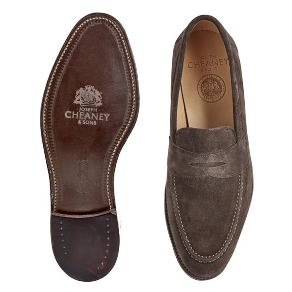 cheaney hadley penny loafer in brown suede p551 4313 image