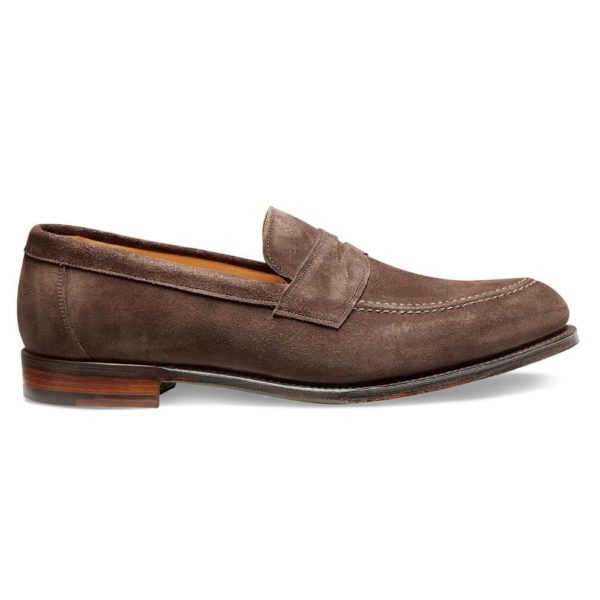cheaney hadley penny loafer in brown suede p551 6175 image