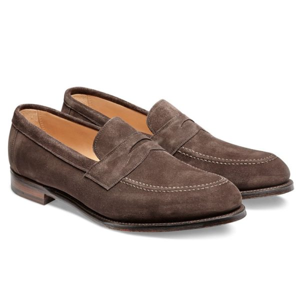 cheaney hadley penny loafer in brown suede p551 6176 image