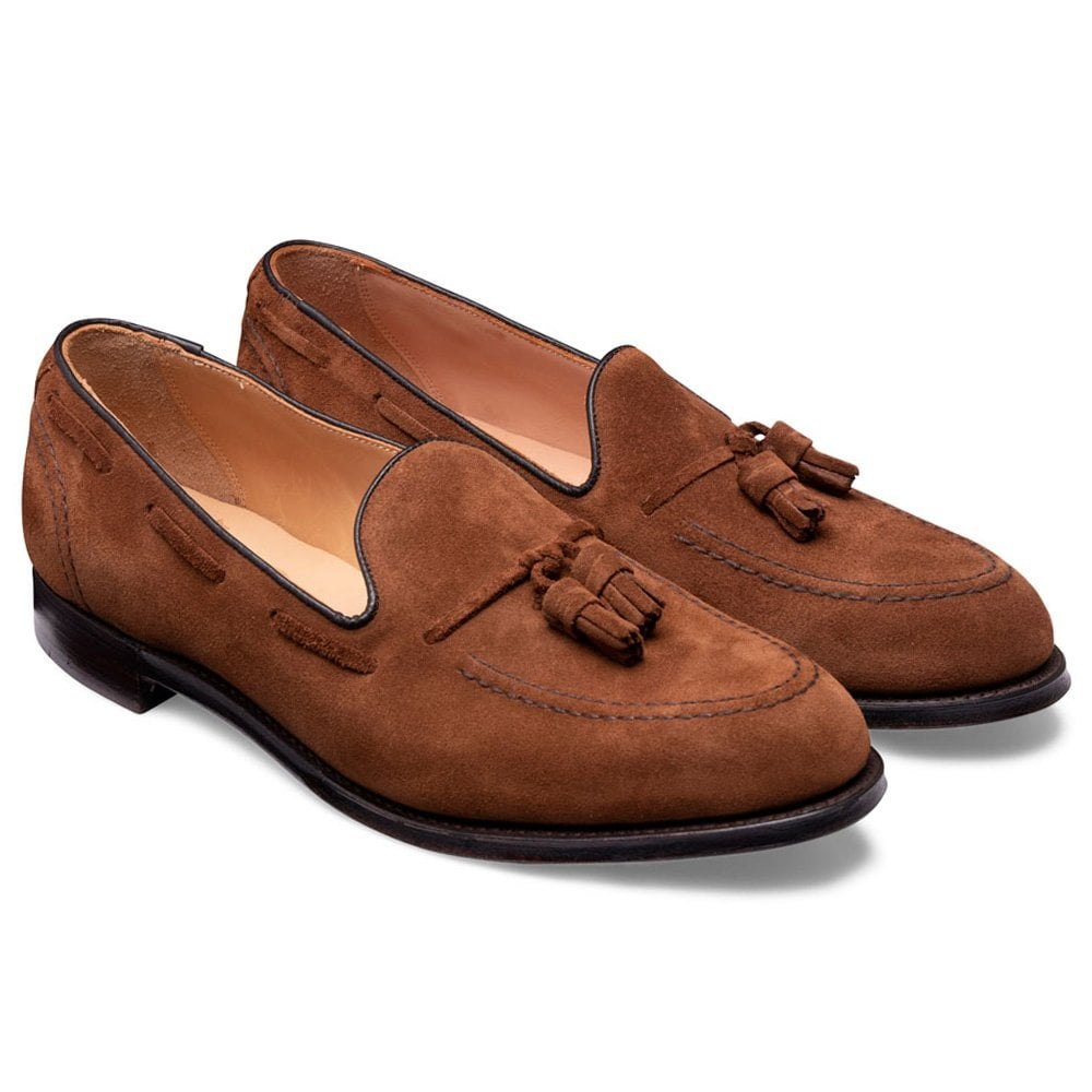 cheaney harry ii tassel loafer in fox suede p928 6423 image