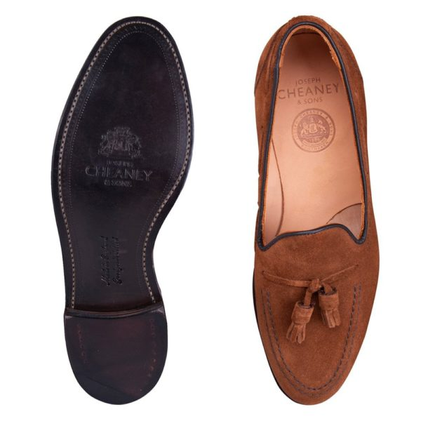 cheaney harry ii tassel loafer in fox suede p928 6541 image
