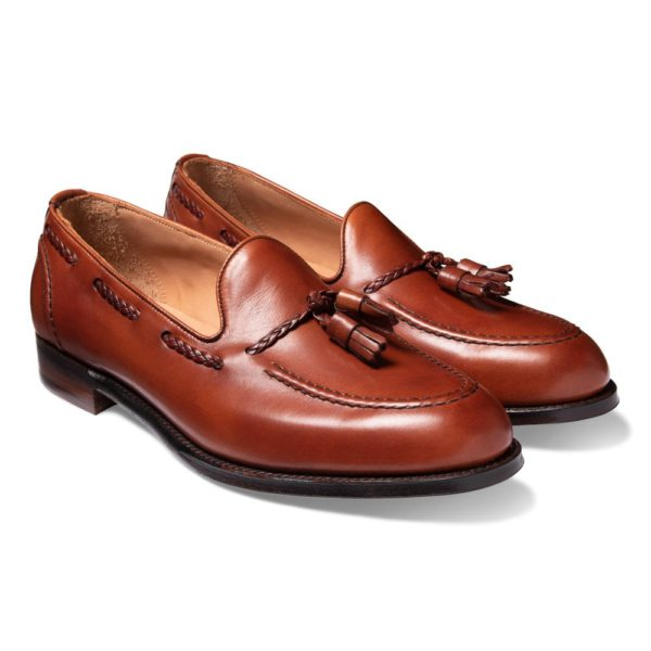 cheaney hugh ii tassel loafer in dark leaf calf leather p821 5643 image