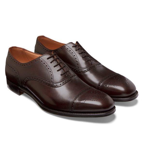 cheaney islington semi brogue in burnished mocha calf leather p667 6296 image