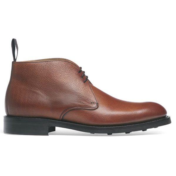 cheaney jackie iii r chukka boot in mahogany grain leather p100 1628 image