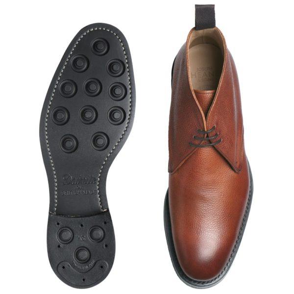 cheaney jackie iii r chukka boot in mahogany grain leather p100 1629 image