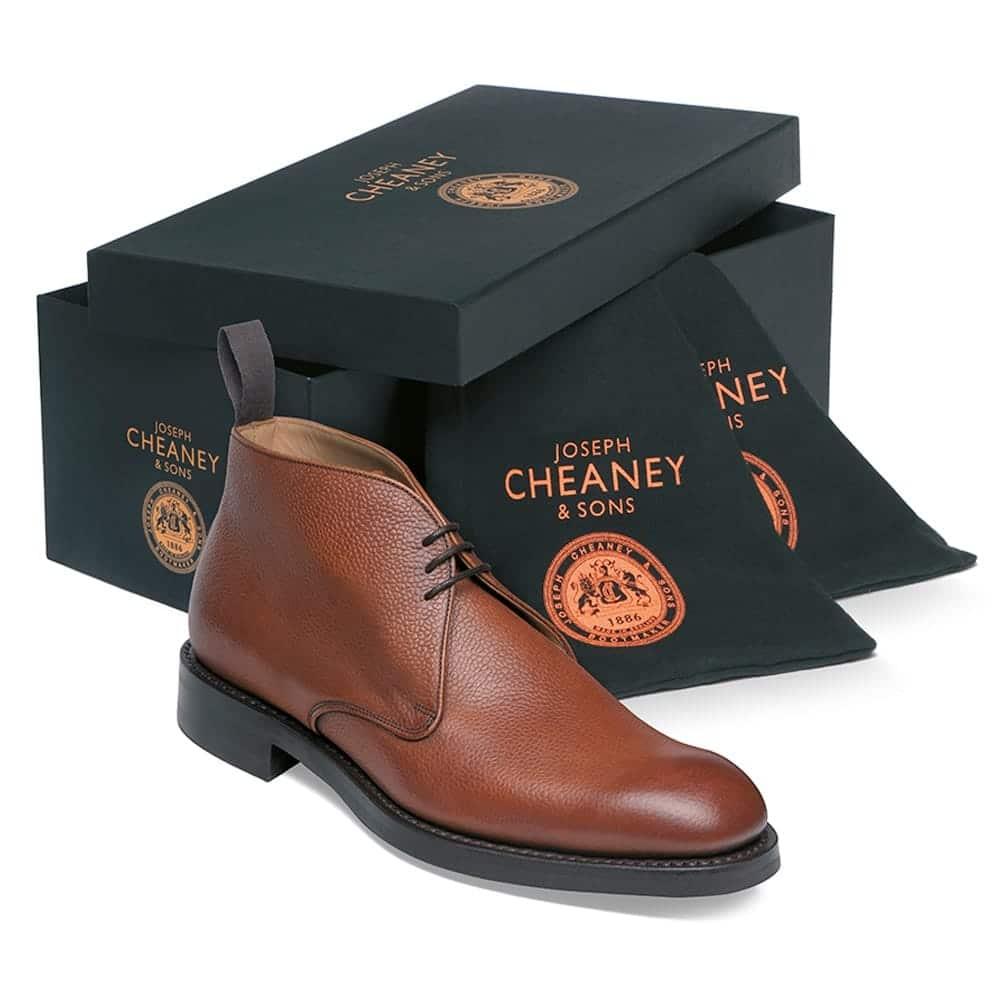 cheaney jackie iii r chukka boot in mahogany grain leather p100 1630 image