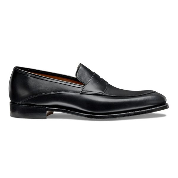 cheaney lewisham penny loafer in black calf leather p849 5838 image