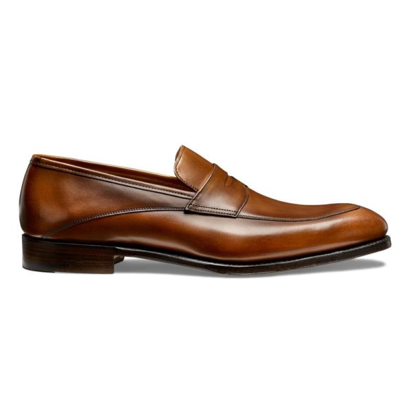 cheaney lewisham penny loafer in dark leaf calf leather p847 5822 image