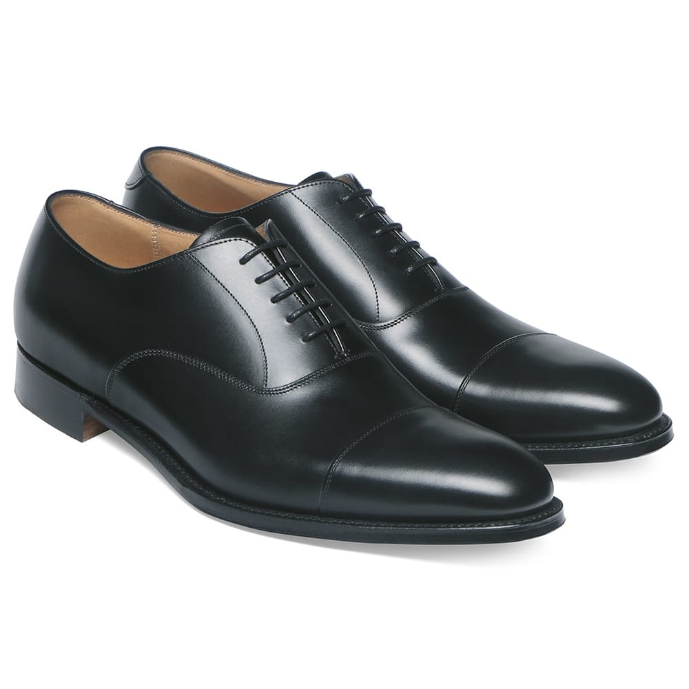 cheaney lime classic oxford in black calf leather leather sole p34 1274 image