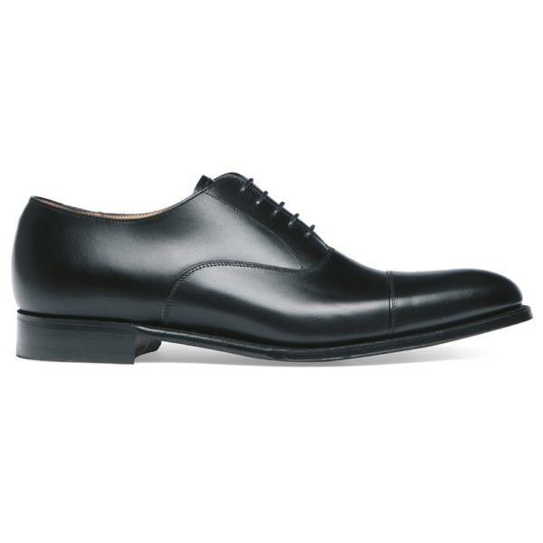 cheaney lime classic oxford in black calf leather leather sole p34 1275 image