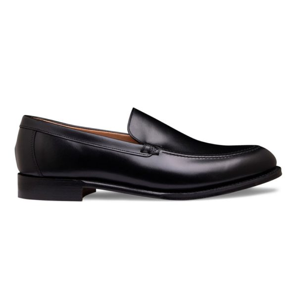 cheaney wilbur apron loafer in black calf leather p1036 7138 image