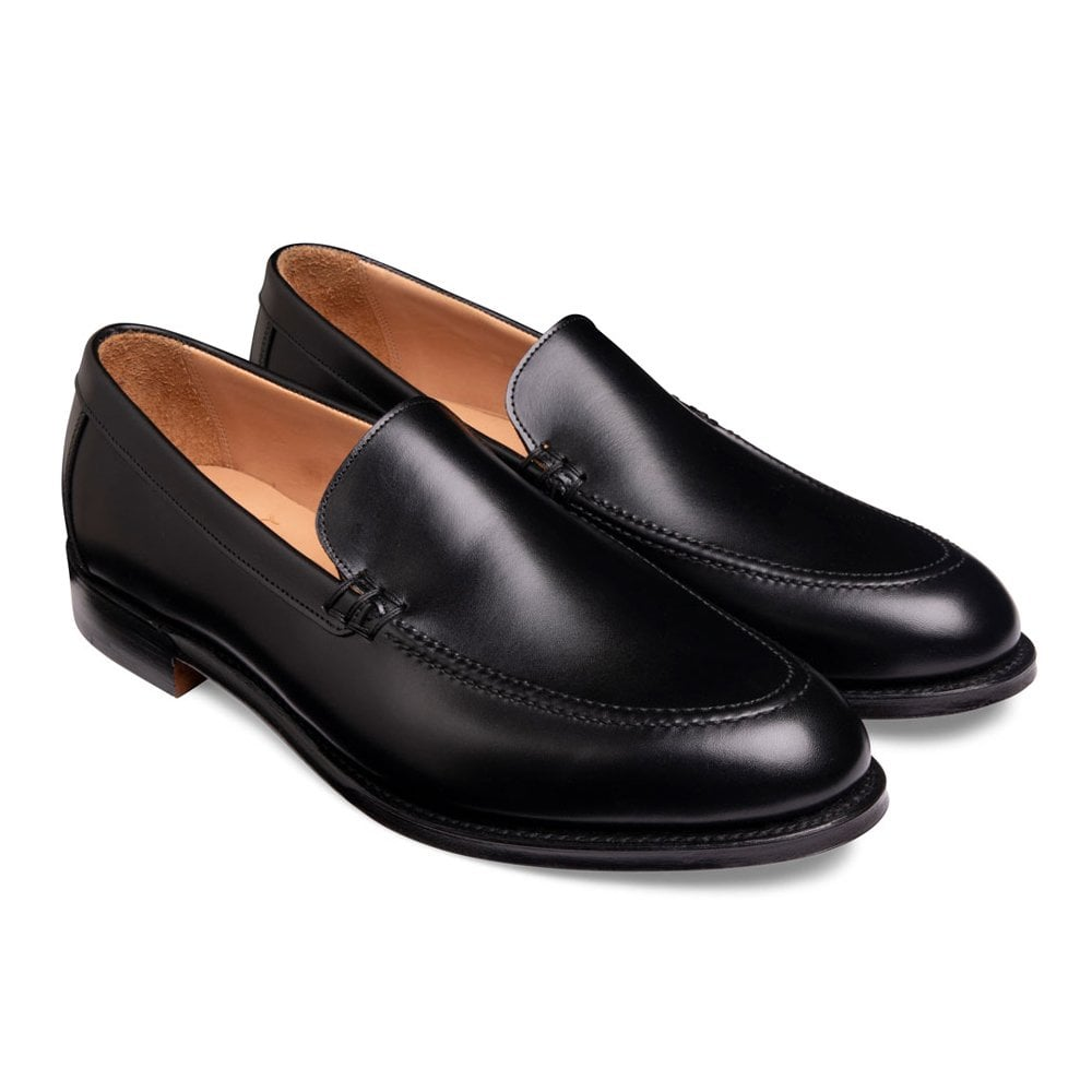 cheaney wilbur apron loafer in black calf leather p1036 7139 image
