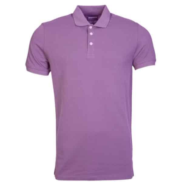 emporio armani viola polo shirt 1