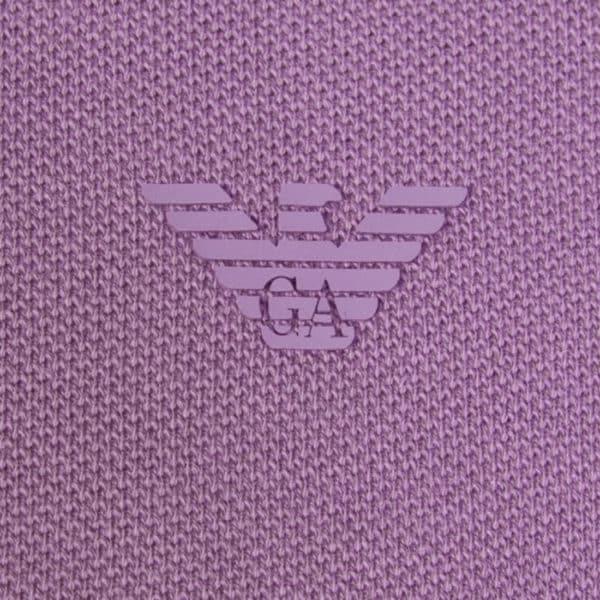 emporio armani viola polo shirt detail