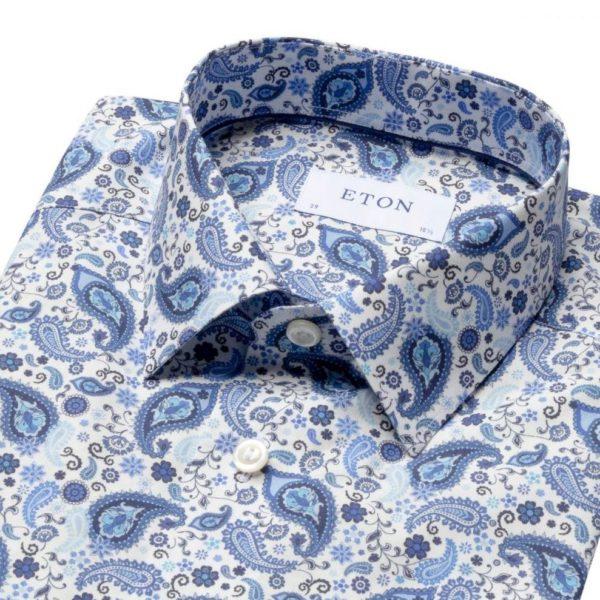 eton Blue paisley shirt