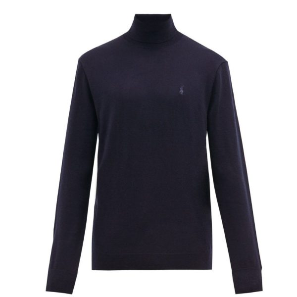 navy merino wool turtleneck front