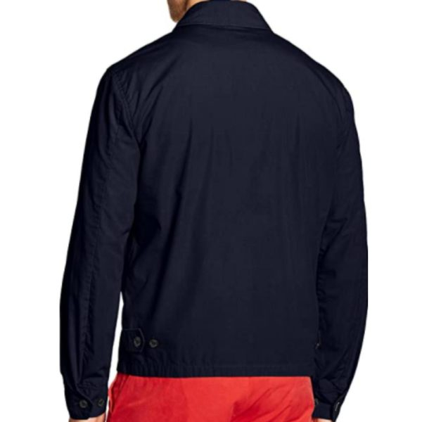 polo ralph lauren Navy mens aviator jacket back