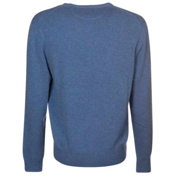 ralph lauren blue wool crew neck jumper back 1