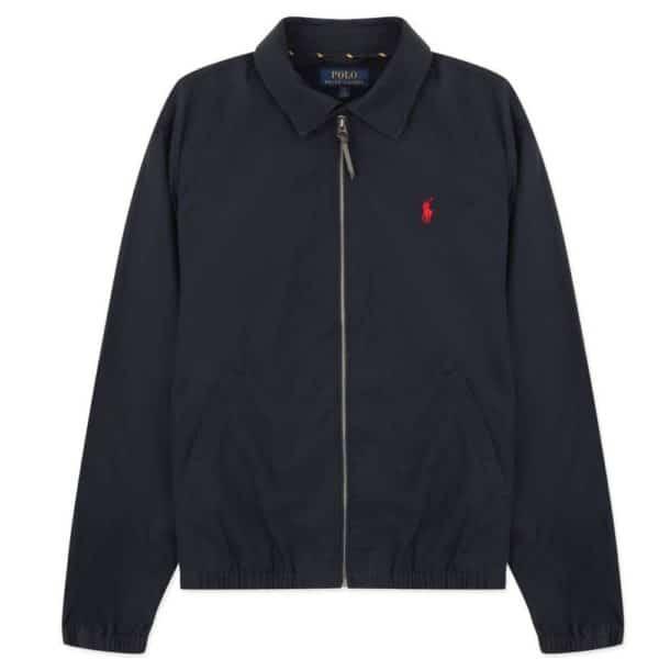 ralph lauren navy aviator jacket feature