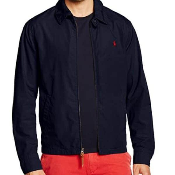 ralph lauren navy aviator jacket front