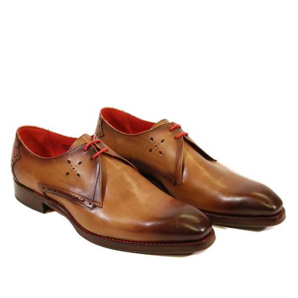 side JEFFERY WEST FLOYD MANCHA Mahogany SHADOW DERBY SHOES