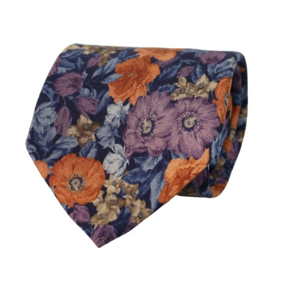 Amanda Christensen tie floral blue