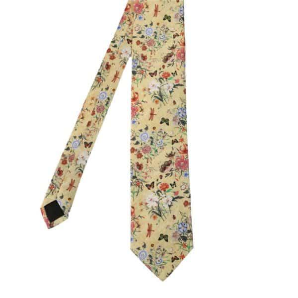 Amanda Christensen tie floral pastel mainyellow
